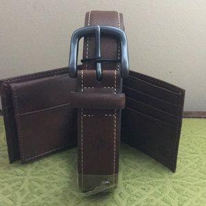 Columbia Men's Belt & Security Wallet Set (38-40)